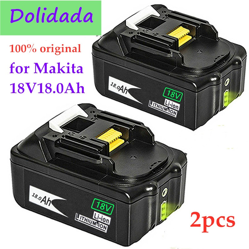 18V12.0Ah Rechargeable Battery 12000mah Li-Ion Battery Replacement Power Tool Battery for MAKITA BL1880 BL1860 BL1830+3A Charger