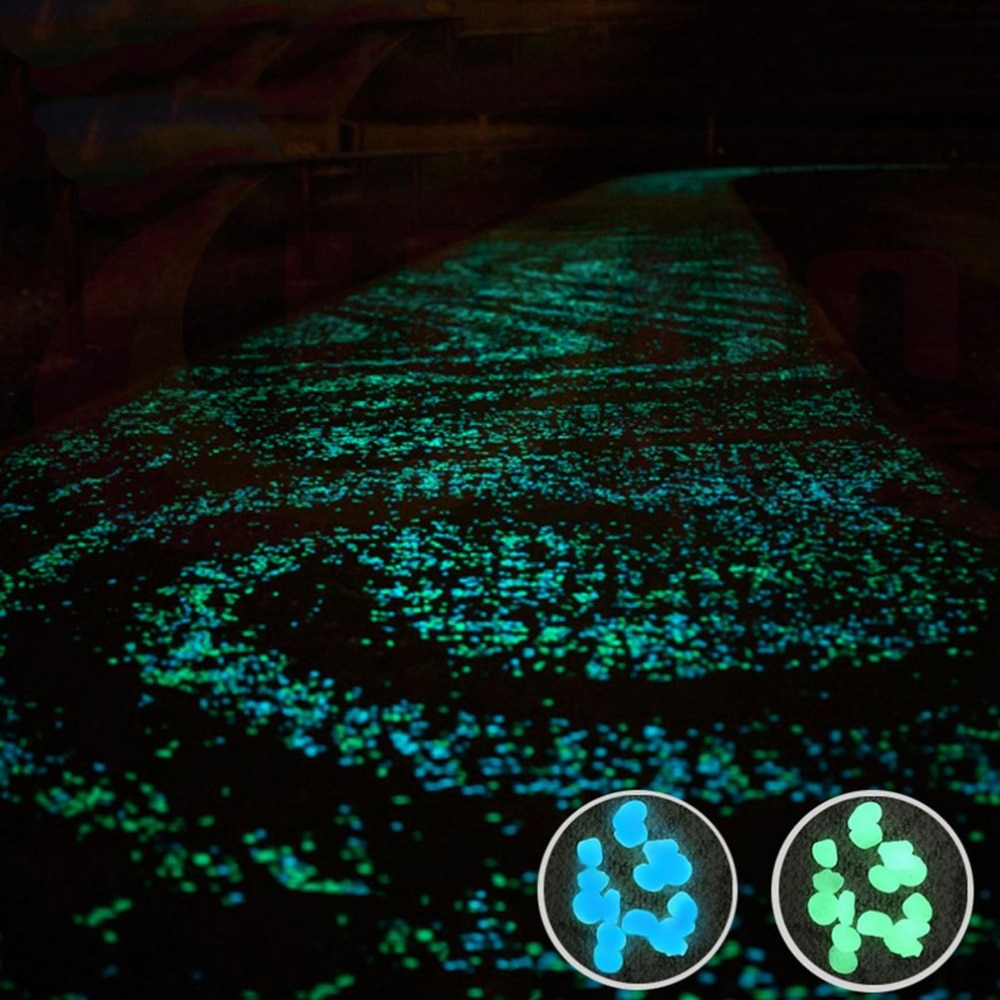 100pcs/pack Glow Pebbles 2018 hot sale Stones Home Fish Tank Garden Decoration Luminous Glowing In The Dark Accessory for Gift